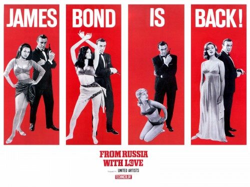 from russia with love james bond is back 500x375 From Russia With Love   James Bond Is Back! Wallpaper Movies Movie posters