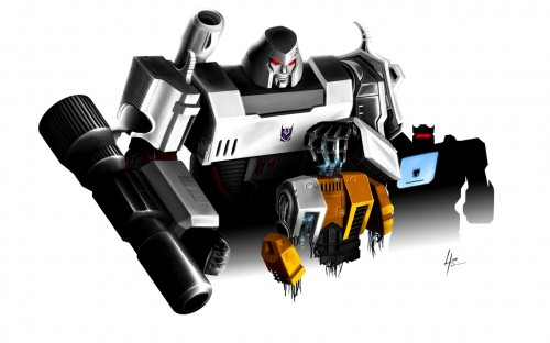 megatron and soundwave kill autobots 500x312 Megatron and Soundwave kill Autobots Wallpaper Comic Books