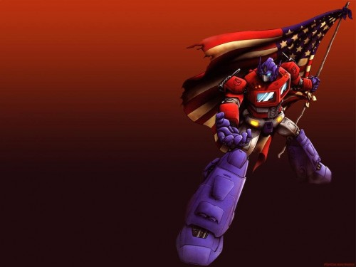 Optimus Prime - American Flag
