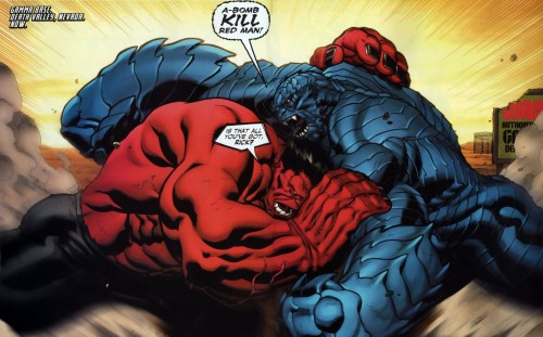 Red Hulk Vs Blue Rick