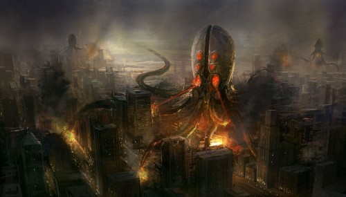 alien invaders 500x285 alien invaders Wallpaper Cthulhu