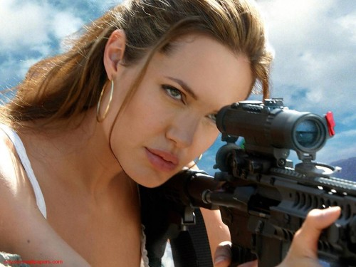 Angelina Jolie Takes Aim