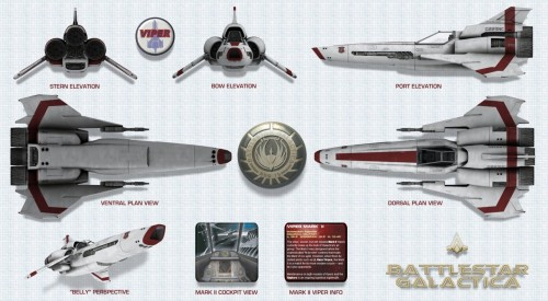 battlestar galactica viper 500x275 Battlestar Galactica Viper Wallpaper Television Fantasy   Science Fiction