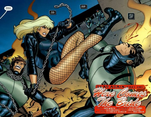 Black Canary kicks some ass