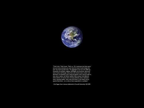 Carl Sagan's - Mote of dust suspended in a sunbeam