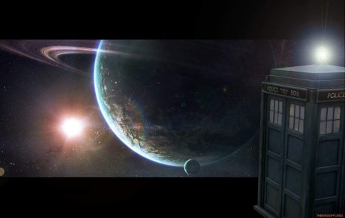 dr who planet orbit 500x316 Dr Who   Planet Orbit Wallpaper Television Space