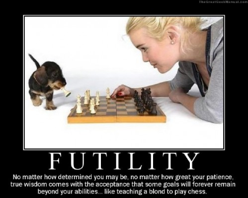 Futility - Blondes and chess