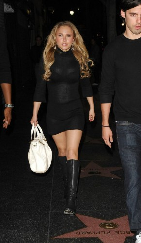 hayden panettiere out and about