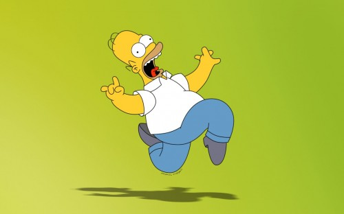 homer simpson is crazy 500x312 homer simpson is crazy Wallpaper Television