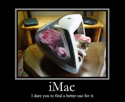 imac i dare you to find a better use for it 500x411 iMAC   I dare you to find a better use for it Motivational Posters Humor Computers