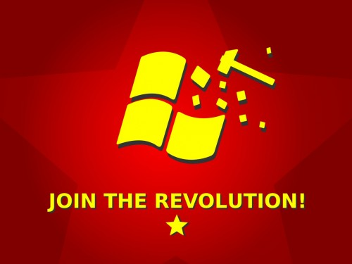 join the revolution 500x375 Join The Revolution Wallpaper Politics Humor Computers