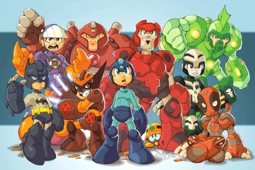 Mega Man and Assistants