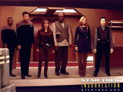 star trek 2009 wallpaper. Star Trek 9 Insurrection Crew