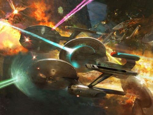 star trek battle 500x375 Star Trek Battle Wallpaper star trek Fantasy   Science Fiction