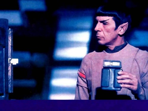 Star Trek - Spock Reads His Tricorder