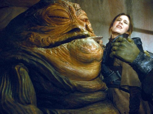 star wars leia gets a hutt kiss 500x375 Star Wars   Leia gets a hutt kiss Wallpaper star wars