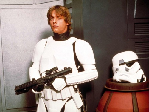 star wars - luke and a beheaded stormtrooper