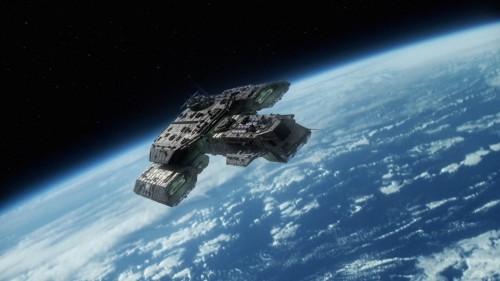 Stargate Starship in orbit