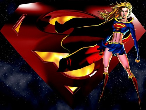Supergirl and Super Logo