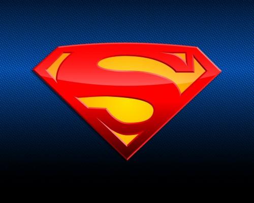 Superman Logo On Blue