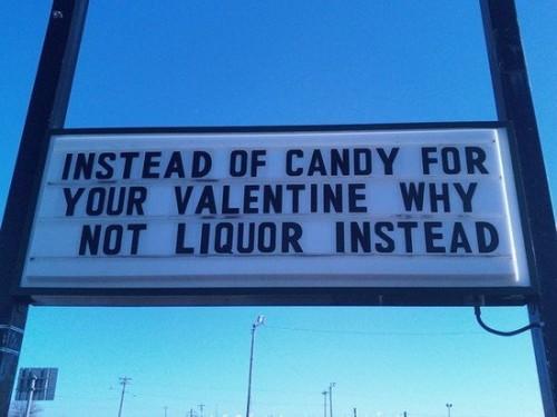 Why not liquor instead