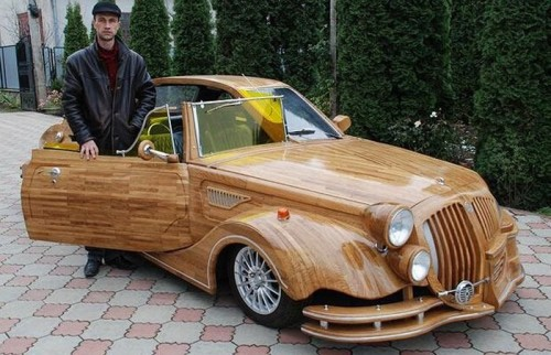 wooden car