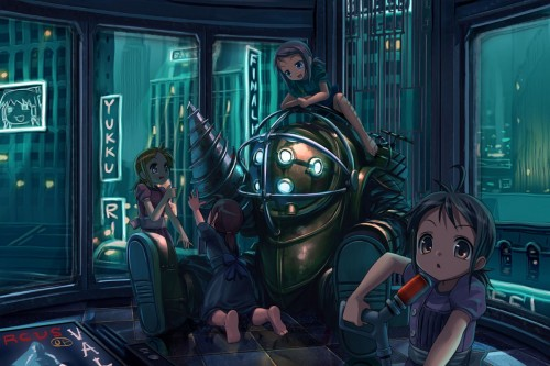 big daddy with little sisters 500x333 big daddy with little sisters Wallpaper Gaming