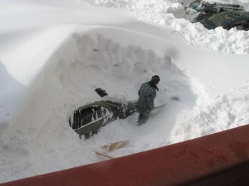 Car Snow Digger