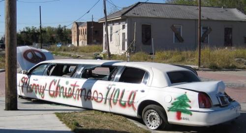merry christmas nola limo 500x270 Merry Christmas   Nola Limo X Mas wtf Cars