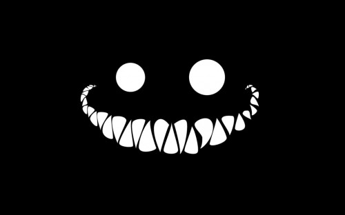 Weird Smile - black and white