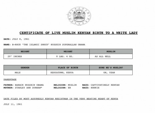 Barak Obama's Birth Certificate