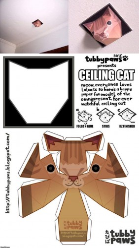 Ceiling Cat Papercraft