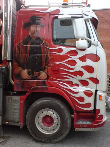 Chuck Norris Truck Paint Job