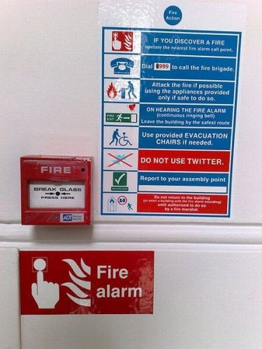 In case of fire - DO NOT USE TWITTER