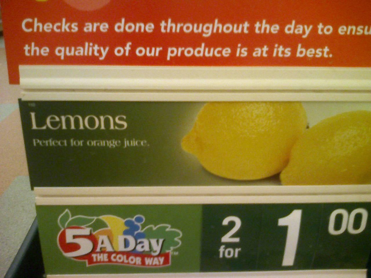 Lemons – Perfect for orange juice