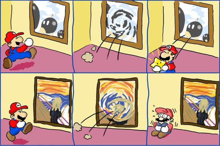 Mario Worlds – The Scream