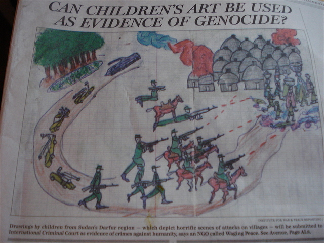 can children's art be used as evidence of genocide