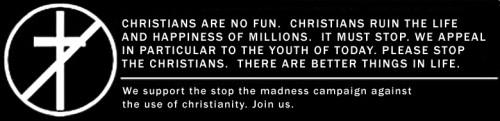 christians are no fun 500x121 christians are no fun Religion