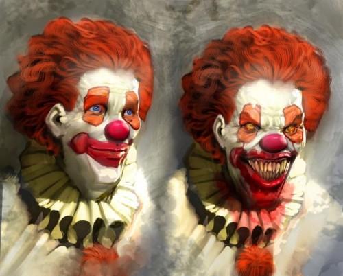 clown of terror 500x402 clown of terror Art