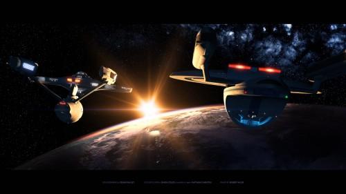 enterprise sendoff 500x281 enterprise sendoff Wallpaper star trek