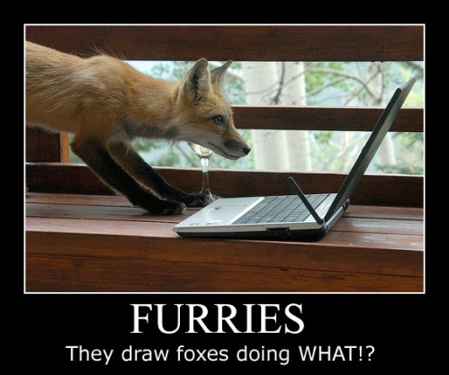 furries - they draw foxes doing WHAT