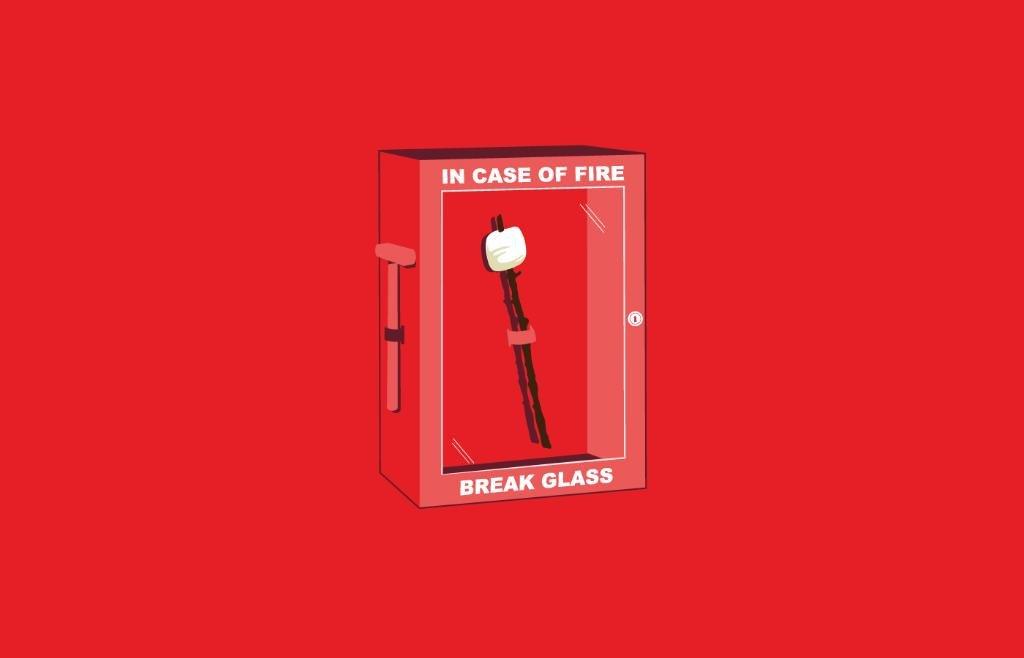 in case of fire – break glass