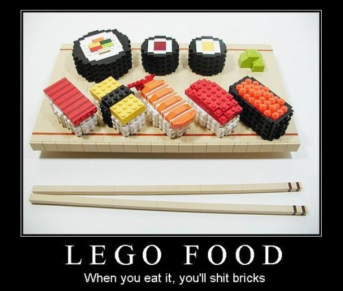 lego food when you eat it youll shit bricks 500x424 lego food   when you eat it, youll shit bricks Legos