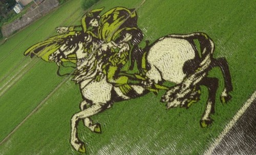 rice field art 02 500x302 Rice Field Art Food Art