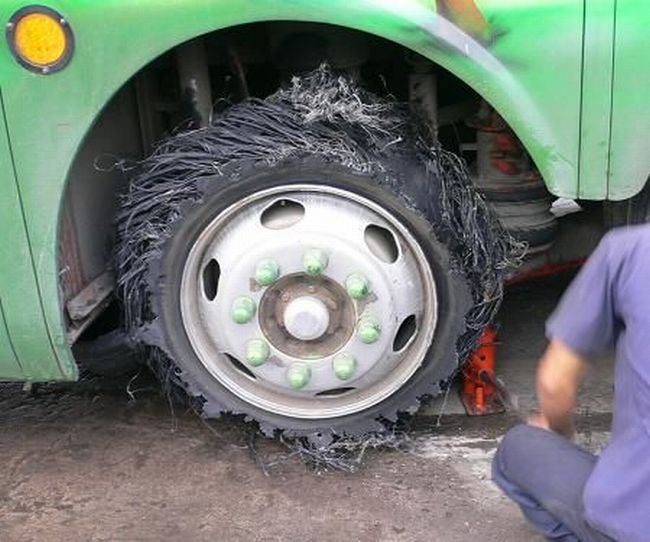 shreaded tire