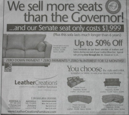 we sell more seat than the governor