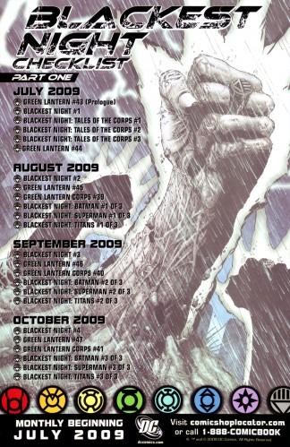 Blackest Night Checklist