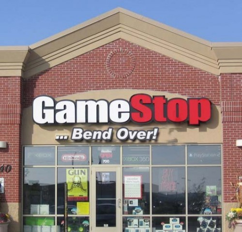 gamestop and bend over