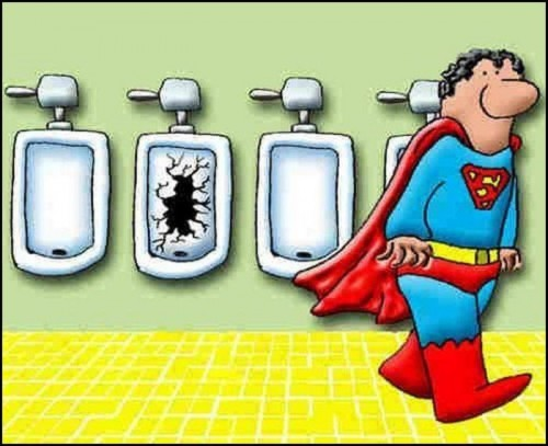 superman takes a super leak