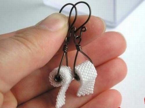 toilet paper ear rings